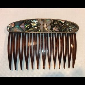 Accessories - Vintage Mexican Abalone Hair Comb